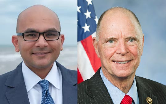 Sanjay Patel, left, and Bill Posey.