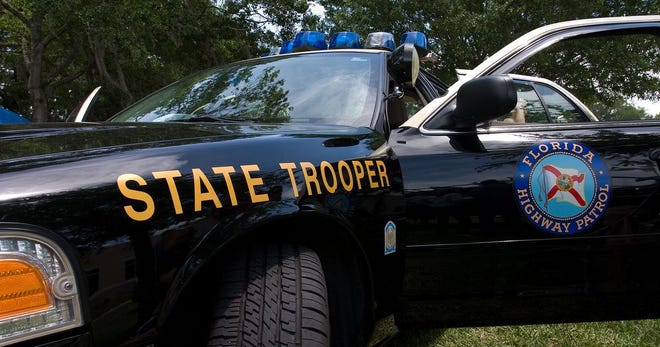 A Florida Highway Patrol cruiser.