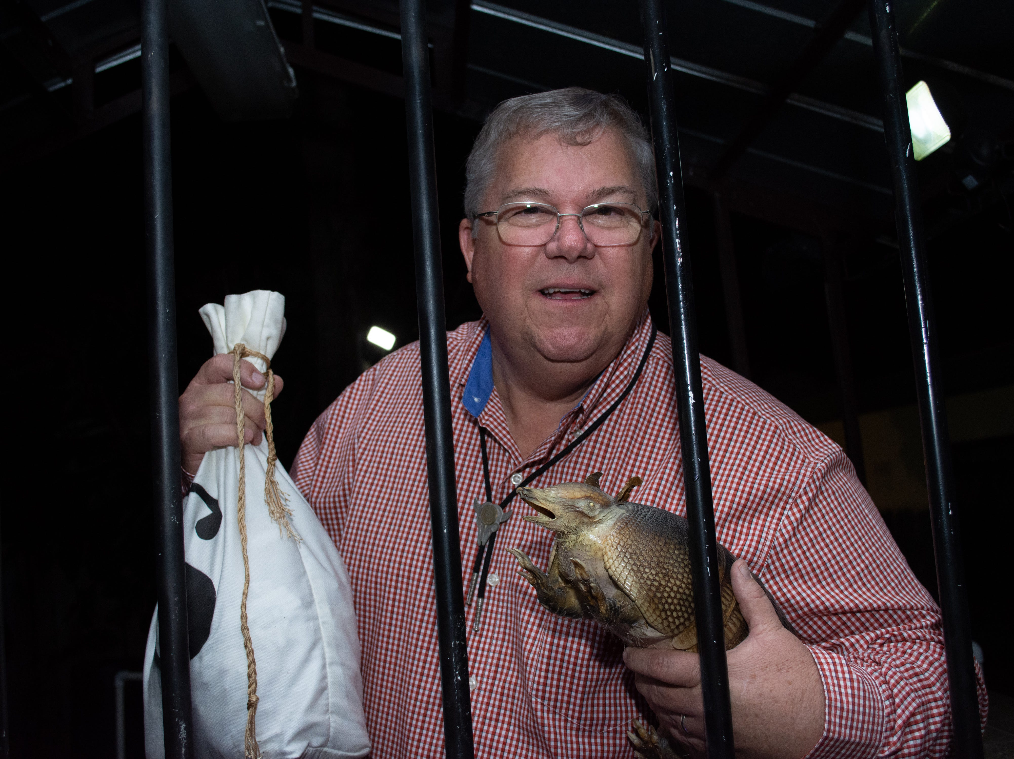 Pastor Tom from Temple Baptist one of the 'Celeberty' jail birds poses for a photo. Arron Lampkin/For FLORIDA TODAY