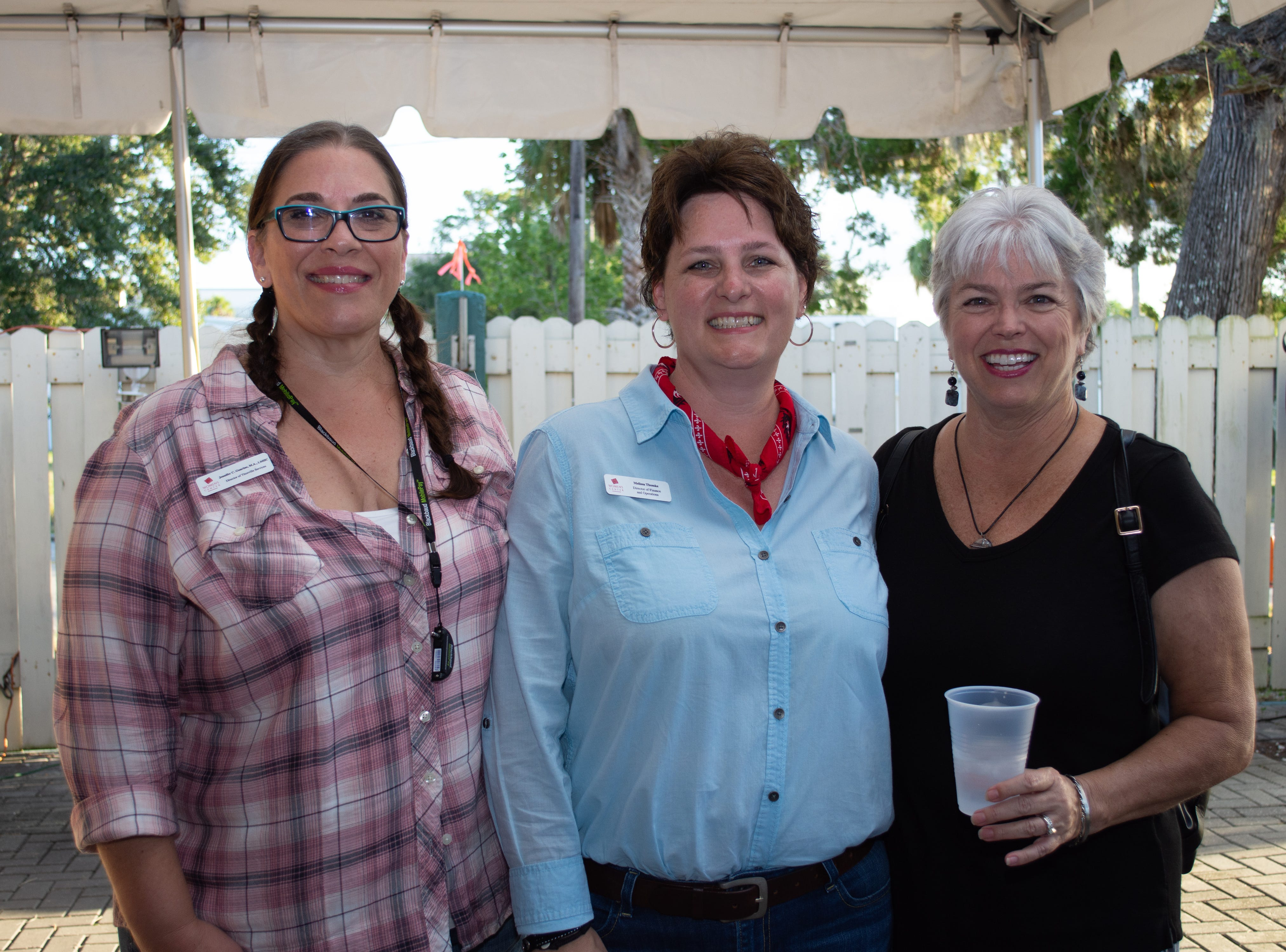 The Woman's center Director of Titusville services Jennifer Guarino, Director of Finance and Operation Melissa Tomke, and Execuitive Director Jenny Gessler. Arron Lampkin/For FLORIDA TODAY
