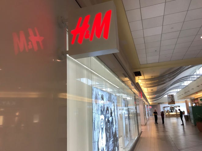H&M is opening in University Mall on Thursday.