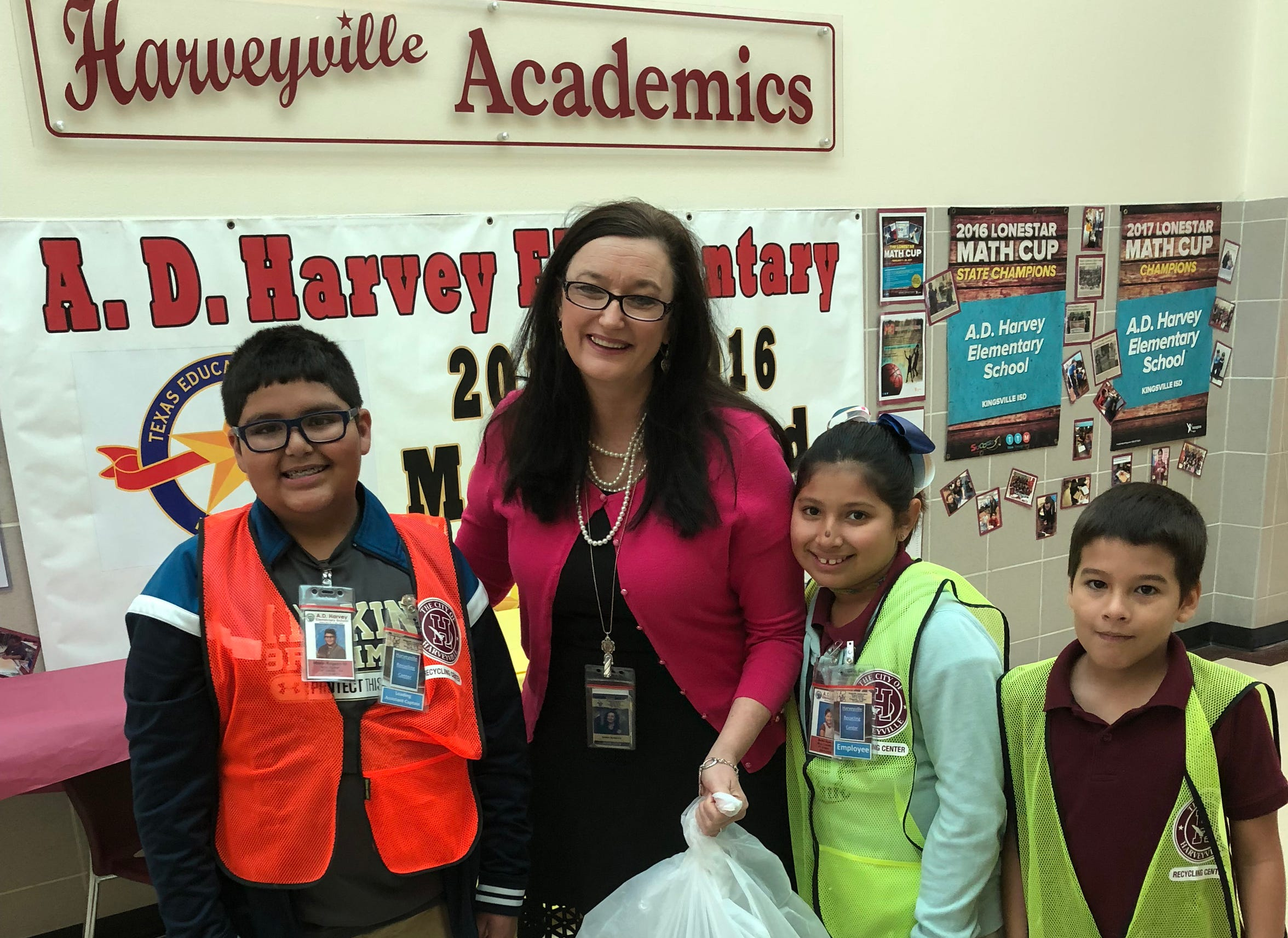 Principal Dawn Mirales at Kingsville's Harvey Elementary has promoted environmental practices on her campus so well that the community has followed the example set by her students.
