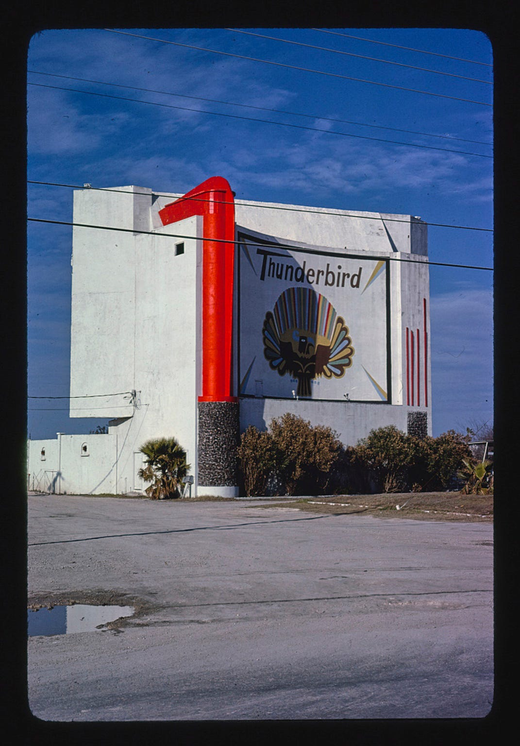 Thunderbird Drive-in Theater at 4910 Leopard Street in Corpus Christi in 1979. Photo from the John Margolies Roadside America Photograph Archive held by the Library of Congress.