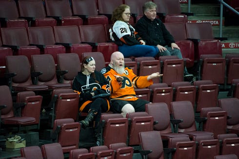 There's been a lot of empty seats at Wells Fargo Center for the Flyers recently, and they enter Friday's game having lost four straight.