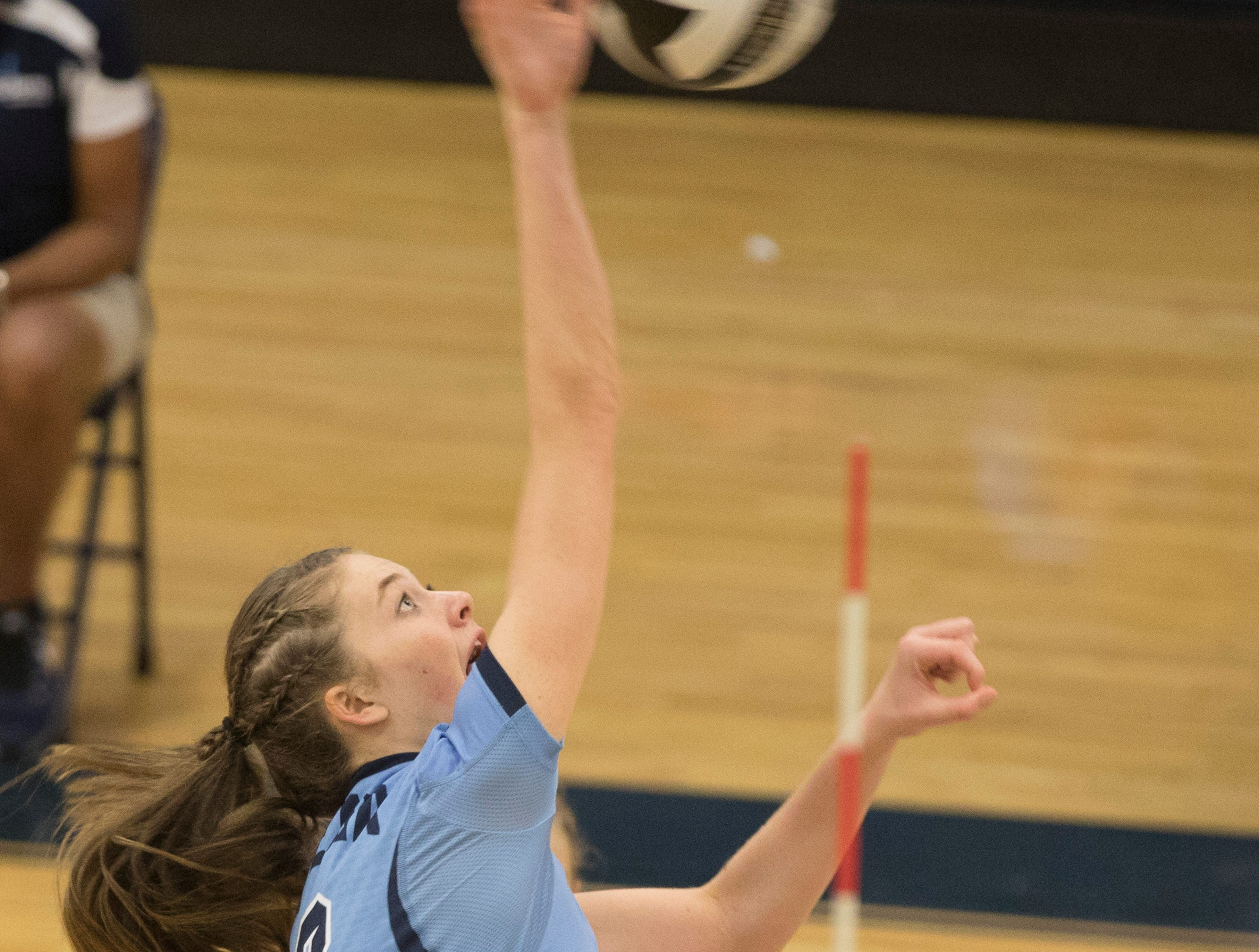 Zane Trace's girls volleyball team defeated Adena 3-0 at Adena High School Tuesday night in Frankfort, Ohio.