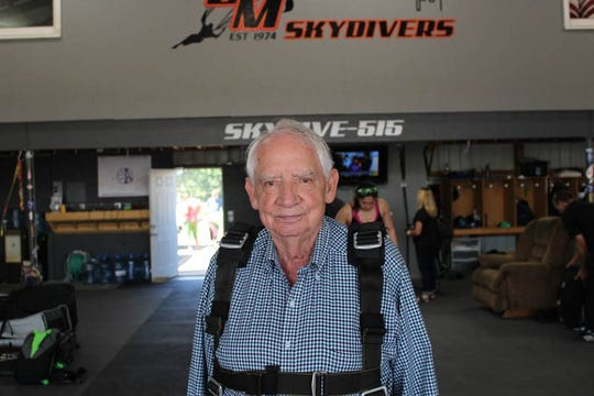 Wayne Rowley of Ames recently celebrated his 85th birthday by skydiving in Winterset, Iowa. Rowley was inspired to jump by George H.W. Bush, who has made the jump on his 75th, 80th, 85th and 90th birthdays.