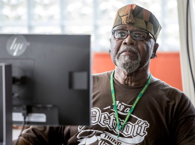 Richard Taylor, 80, of Detroit, who got a free computer last year but almost gave it away because he didn't plan to use it, in a computer class at the Joseph Walker Williams Community center in Detroit on Friday, Oct 5, 2018.