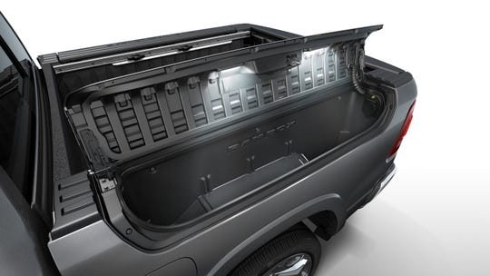 The Ram boxes in the 2019 1500 pickup offer close to 500 liters of storage space.