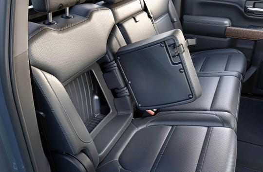 The 2019 GMC Sierra Denali has in-seat storage compartments