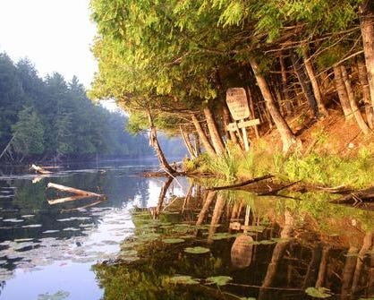 Entrance to the Sylvania Wilderness Area on Crooked Lake in Watersmeet, Mich. in the Upper Peninsula.