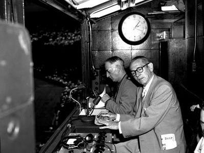 Harry Heilmann and Ty Tyson were the first Tigers' TV broadcast duo, working in 1950 and 1951 on WWJ-TV.