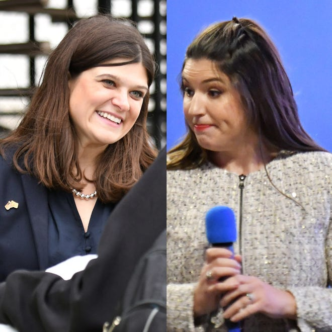 Haley Stevens, left, a Democrat, and Lena Epstein, a Republican, could become Michigan's first millennial rep.