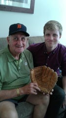 """An October to Remember 1968..."" author Brendan Donley sits with former Detroit Tigers third baseman Don Wert."