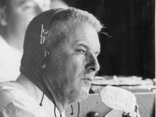 Bob Scheffing, the Tigers manager from 1961-63, joined Ernie Harwell in the WJBK booth for the 1964 season.