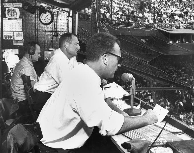 George Kell, left, and Ernie Harwell, right, are two of the more legendary Tigers TV voices. Scroll through the gallery to check out all the Tigers TV broadcasters throughout the years.