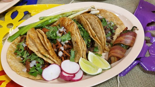 A satisfying plate of authentic street tacos is hard to beat. These are Tacos Juarez-style from Azteca in Washington Square Mall. Find many other authentic tacos at the Evansville Taco Festival this Saturday, Oct. 13.