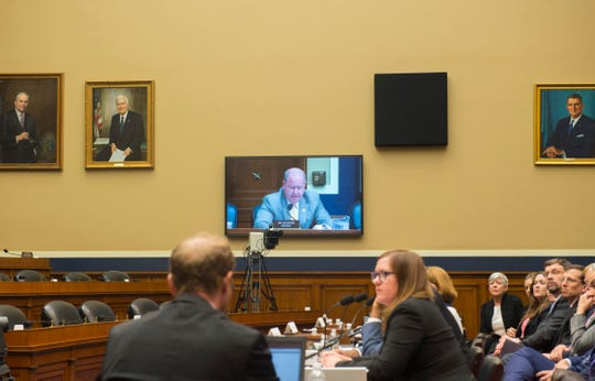 8th District Congressman Larry Bucshon speaks during a hearing of the House Energy and Commerce Committee.