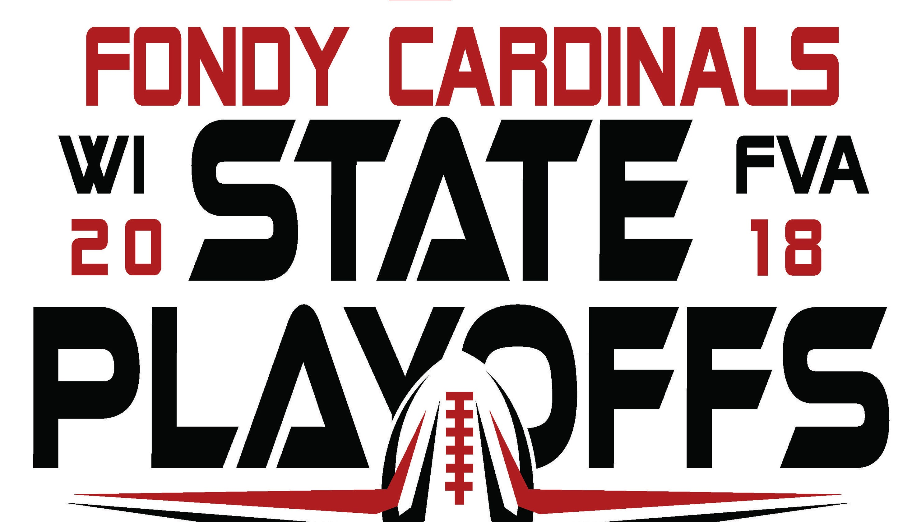 769926ad FHS Cardinal's Nest creates Fondy football playoff shirts for fans