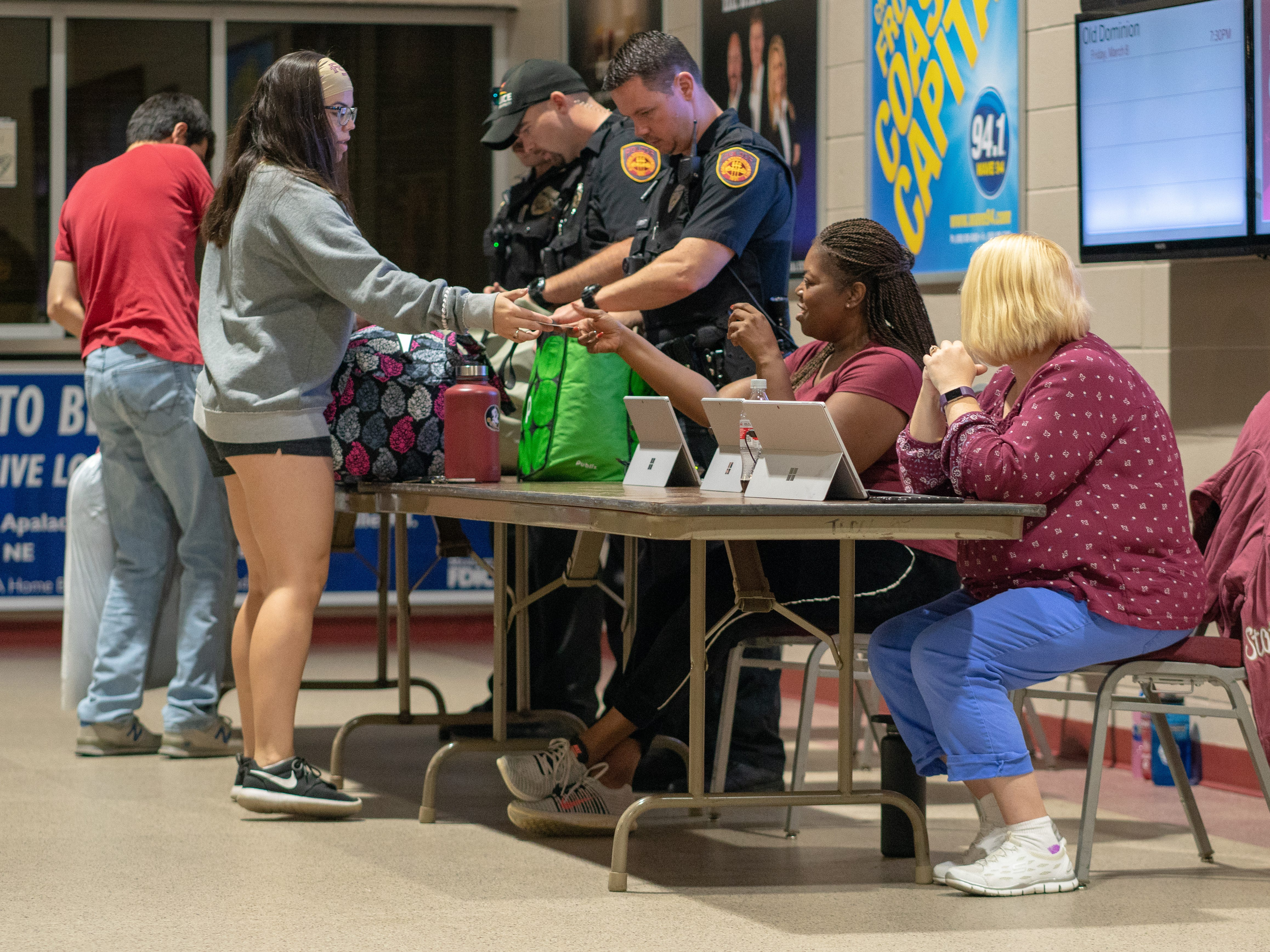 The Donald L. Tucker Civic Center opened its doors as a shelter to FSU students and faculty during Hurricane Michael.