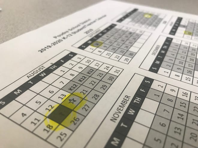 The Poudre School District calendar committee submitted the 2019-20 draft calendar at a school board meeting Tuesday. the board will vote on it Oct. 23.