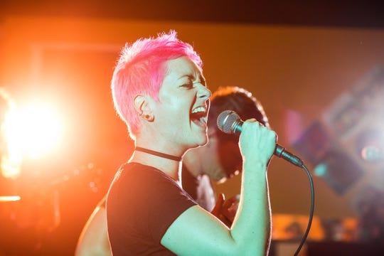 Rock singer Kate Skales