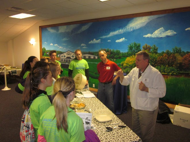 Students take in a presentation at last year's Ag Career Days at Pagel's Ponderosa Dairy in Kewaunee.