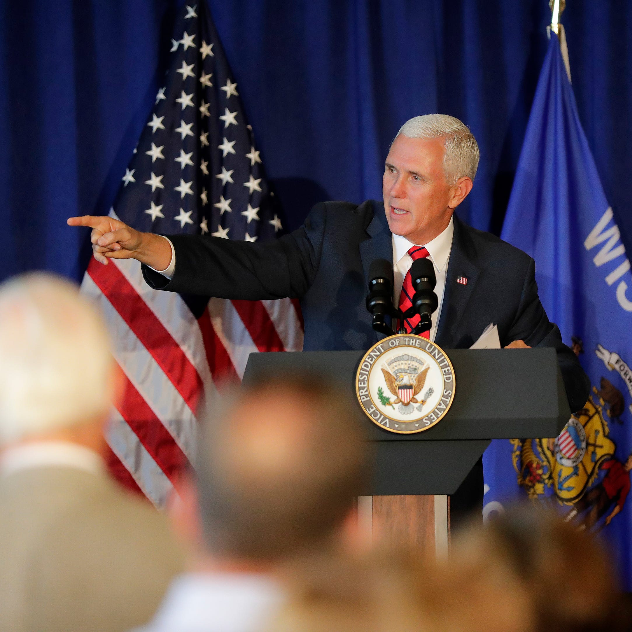 Vice President Mike Pence supports Walker, Vukmir at rallies in Green Bay, Eau Claire
