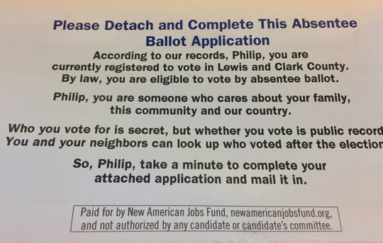 Montana residents were sent this flyer in the mail.