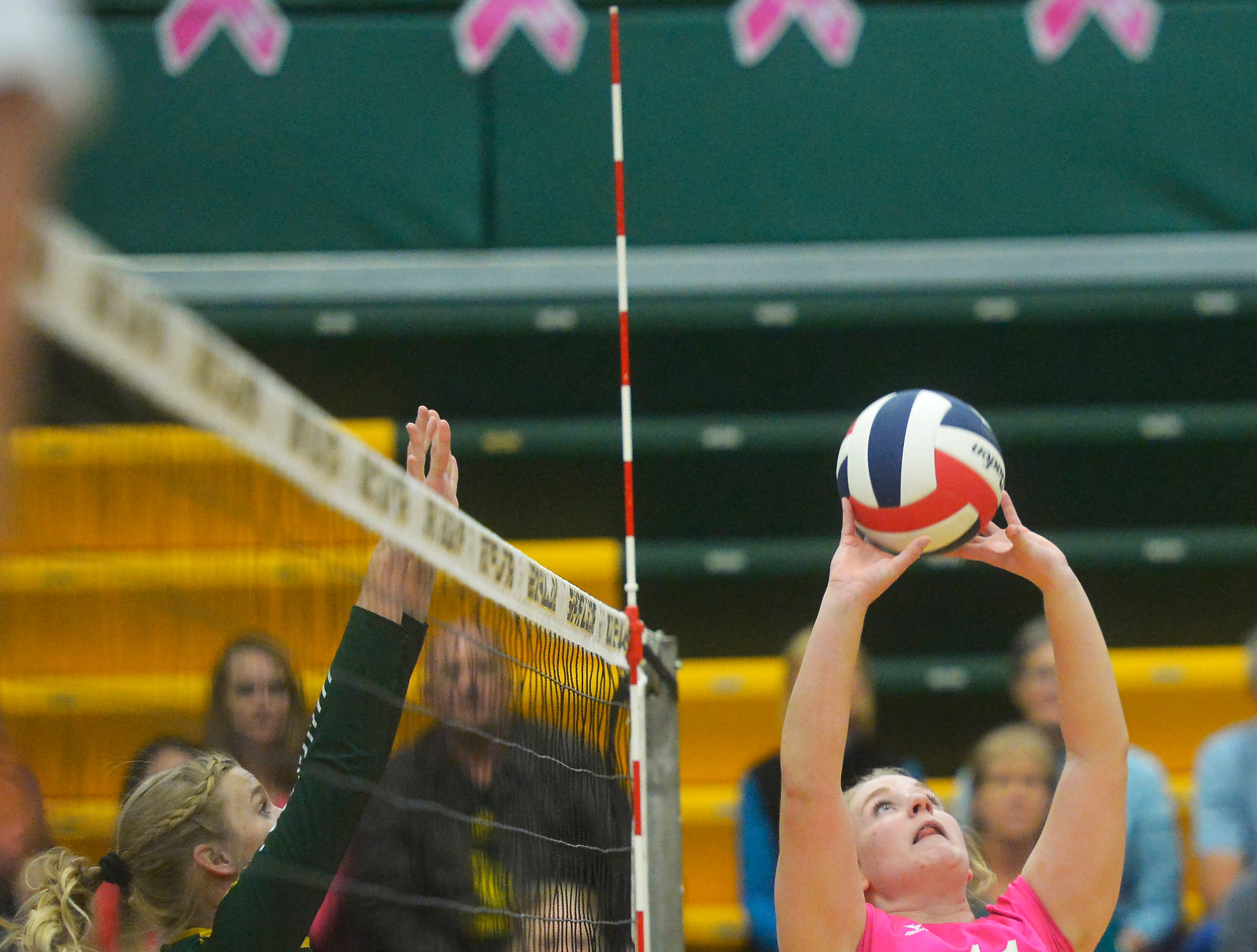 Crosstown volleyball match in the CMR Fieldhouse, Tuesday.