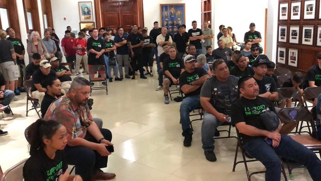 A crowd turned out to supporta 50-year lease for Guam Raceway Park in Yigo