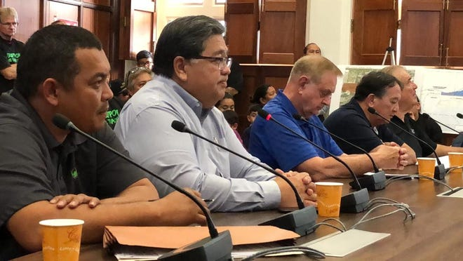 Members of the public turned out Wednesday to testify on a 50-year lease for Guam Raceway Park in Yigo