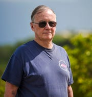 Guam historian and local author, Dave Lotz, at the War In The Pacific National Historical Park - Asan Bay Overlook on Nimitz Hill on Tuesday, Oct 9, 2018.
