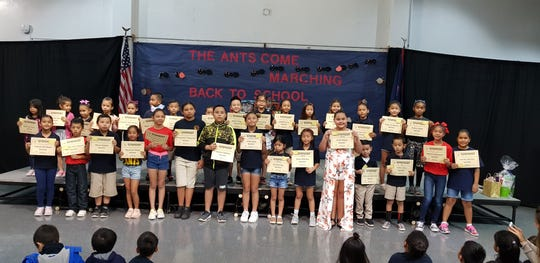 Ordot-Chalan Pago Elementary School celebrates their first sudent and class of the month awardees for school year 2018-2019.