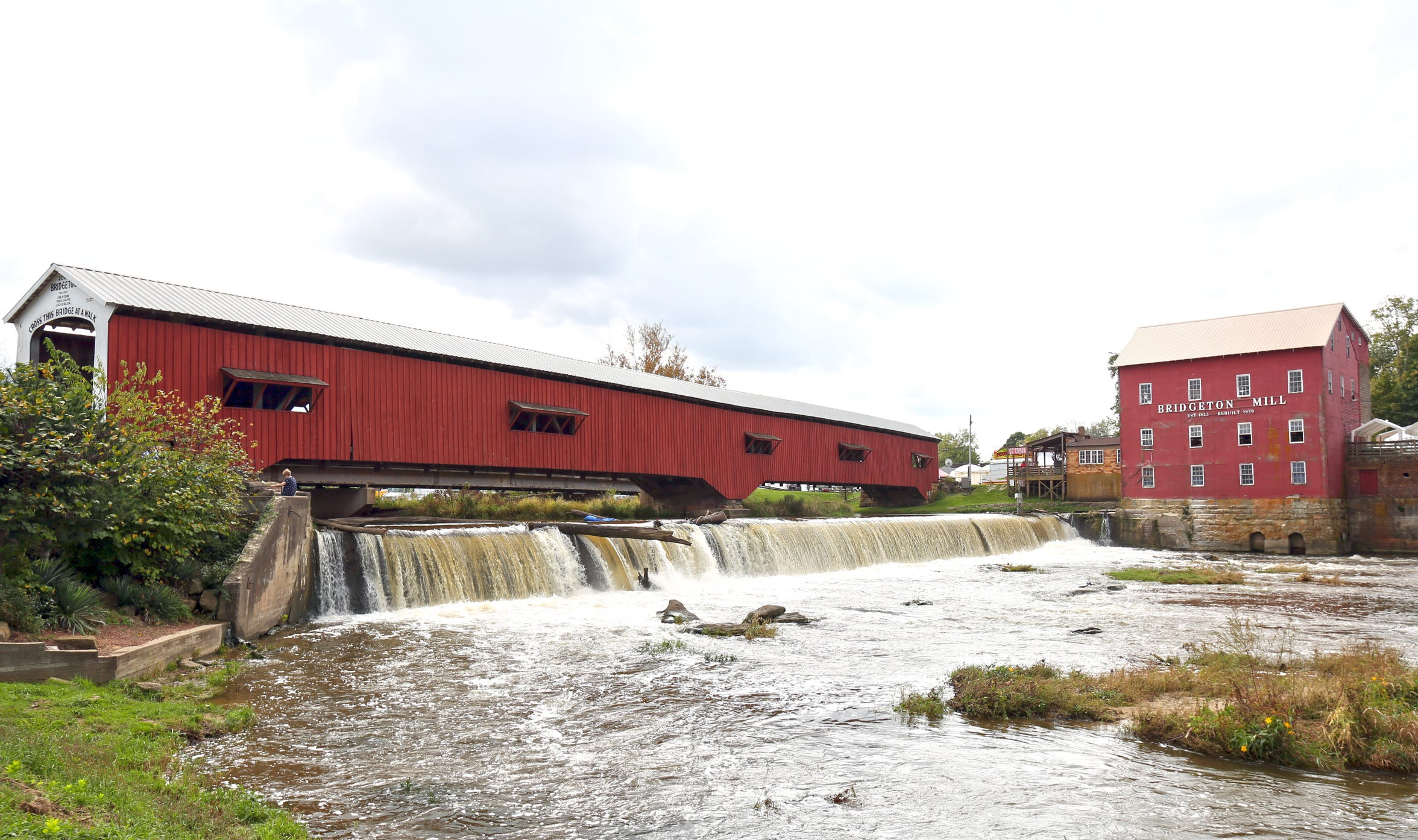 The Bridgeton covered bridge in Parke County is considered Indiana's most famous covered bridge. Shown here on Oct. 9, 2018.