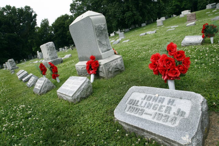 Famous people buried at Crown Hill Cemetery