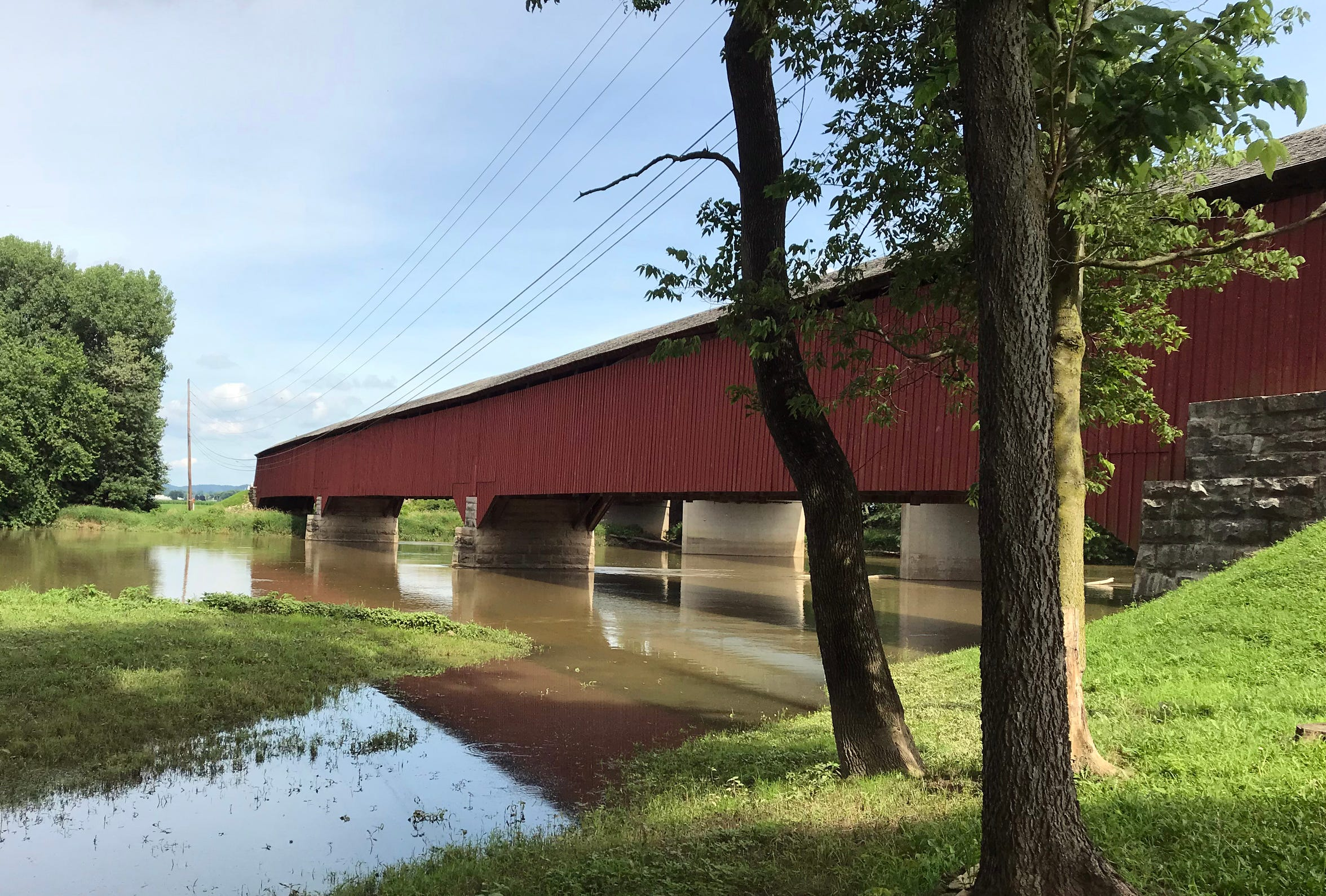 The Medora covered bridge in Jackson County is the longest covered bridge in Indiana and, depending on how it is measured, the longest in the United States. June 28, 2018