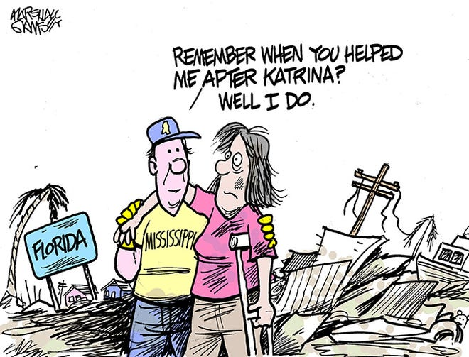 We remember Florida helping us after Katrina.