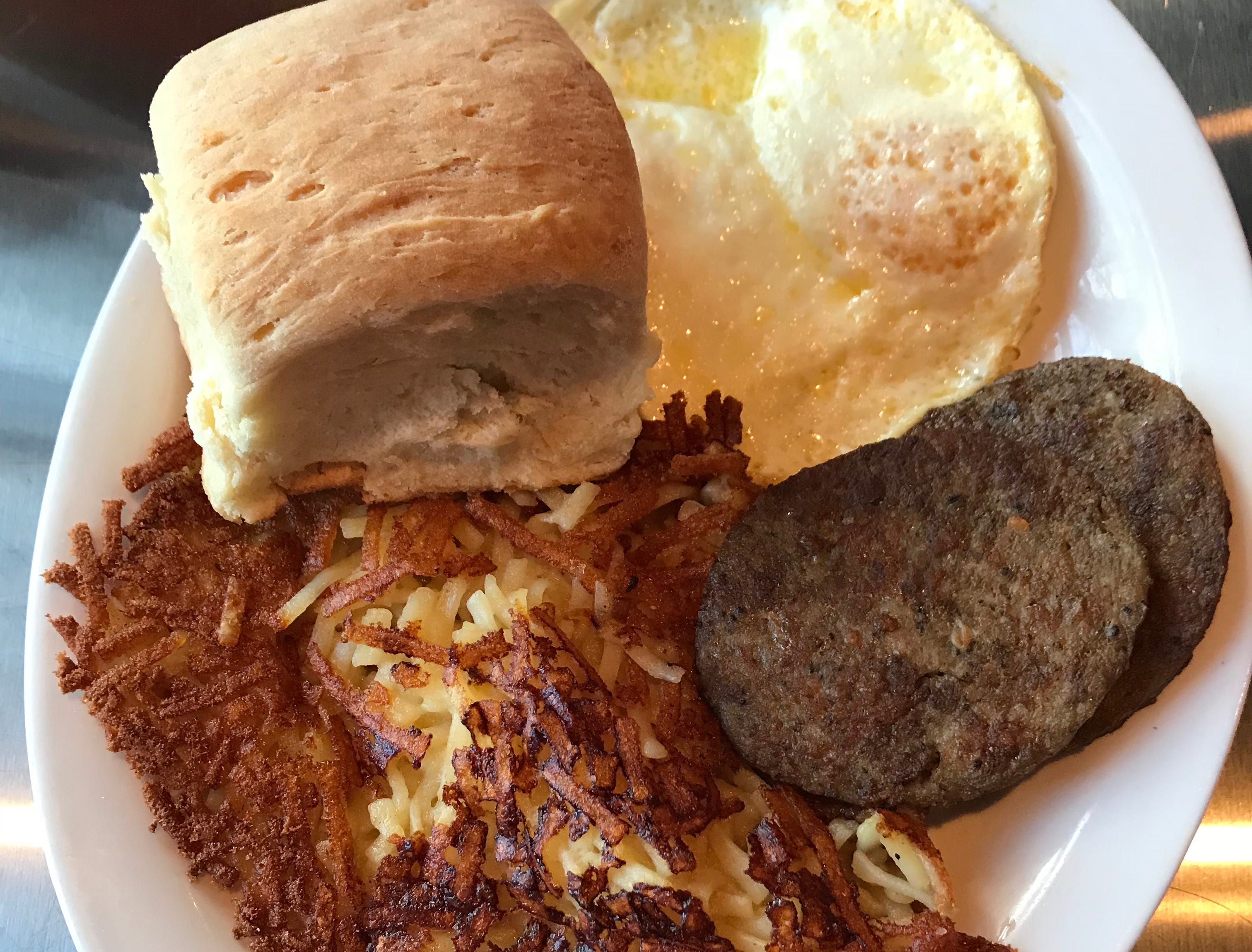 The Sun Up is one of the most popular items on the menu at Fill-Up with Billups in Madison.