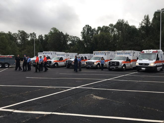 Jackson-Madison County Regional Health Department sends a fuel trailer to Florida on Wednesday, Oct. 10, 2018, to help people affected by Hurricane Michael.