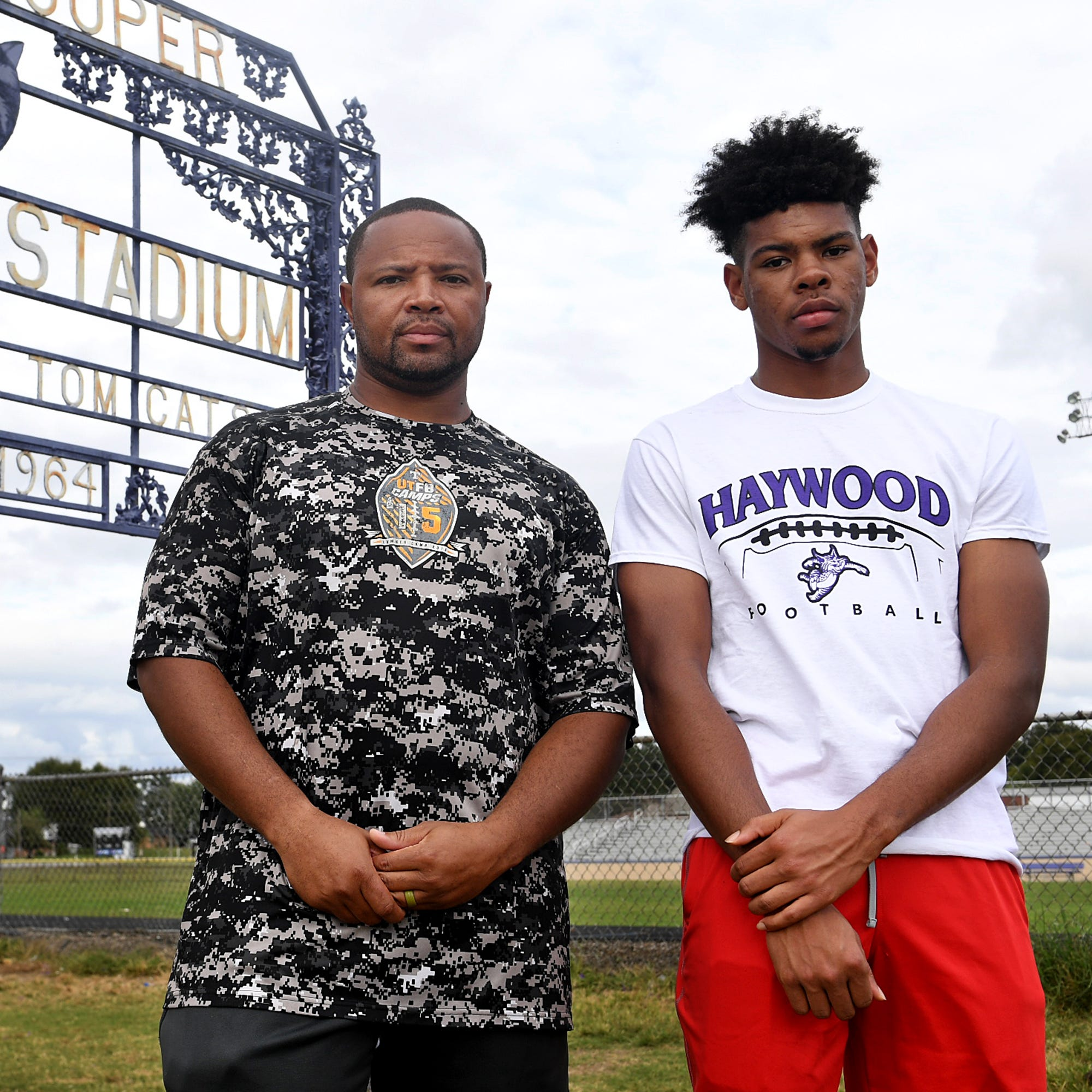 Haywood player's father made best tackle of the night on a running gunman