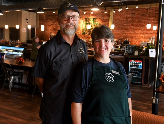 Guy and Tammy Causey opened The Coffee Shop in downtown Humboldt in September 2018. The original brick from the 1800s line the interior walls.