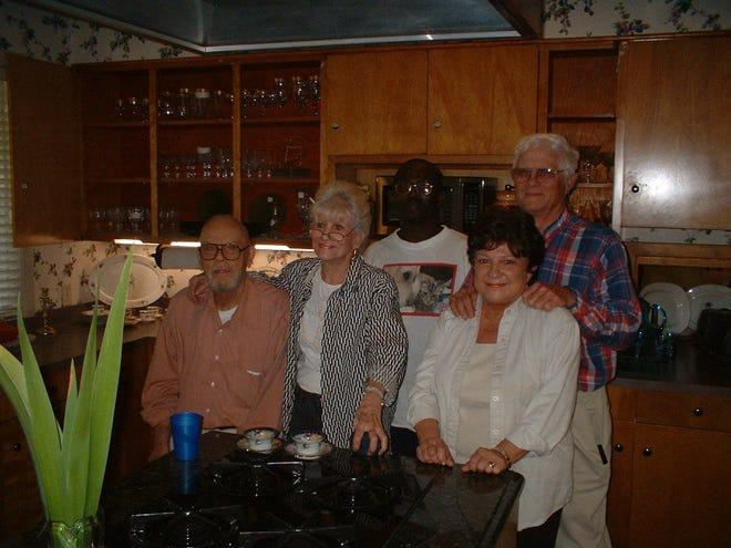 From left in this 2007 file photo: the late Judge Walter Baker Harris, the late Betty Y. Harris, Napoleon Merriweather, Linda Johnson and Travis Johnson at an estate sale they coordinated.