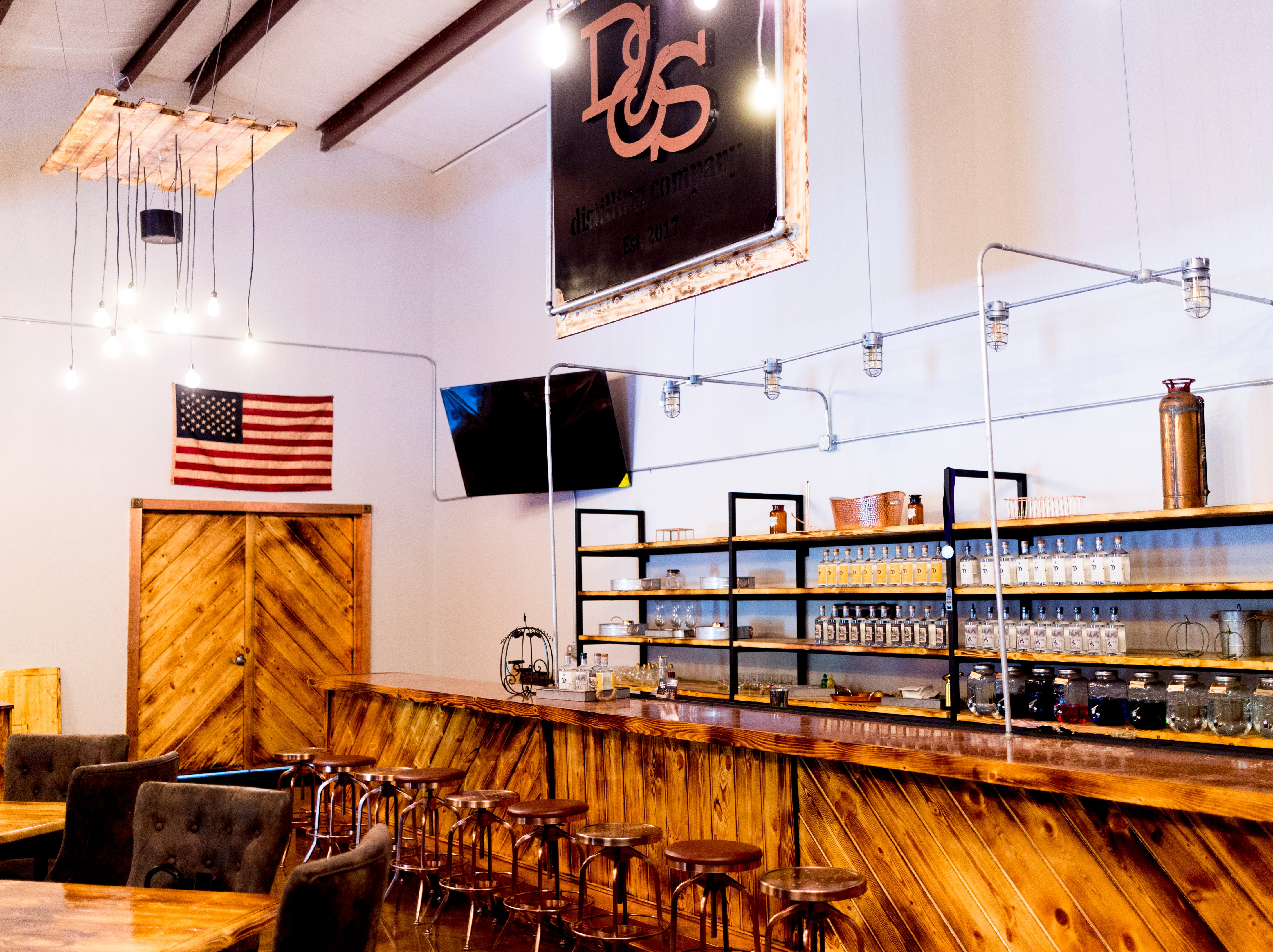 The bar area inside D&S Distilling on 1610 Jenkins Rd. in Sevierville, Tennessee on Tuesday, October 9, 2018. D&S Distilling is TennesseeÕs first completely organic and gluten-free distillery.