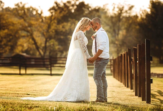 Brittany and Joe Hamilton married Oct. 6 and drove to Panama City Beach for their honeymoon the next day. They had to evacuate the area about 24 hours later to get out of Hurricane Michael's path.
