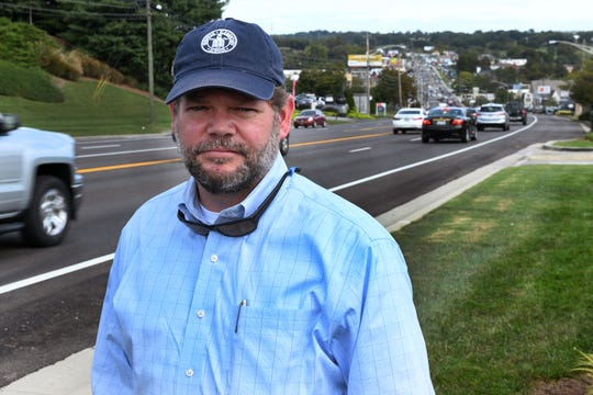 Ashley Williams, regional manager at Kelley X-Ray, and other business owners are worried the city wants to put Cumberland-style medians down Kingston Pike. The city says that is not happening, but plans are to rebuild the Kingston/Northshore intersection. Tuesday, Oct. 9, 2018.