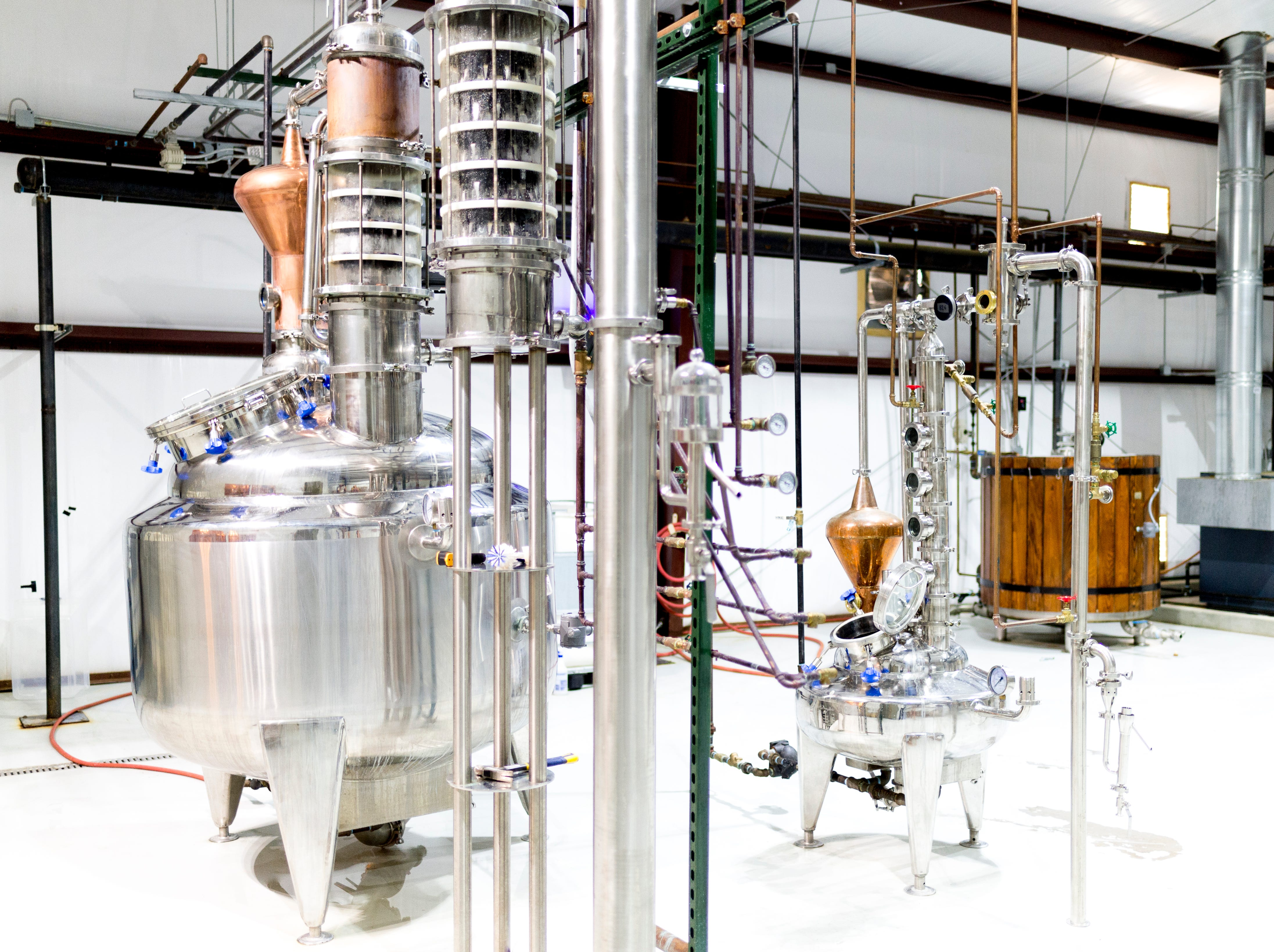 The still inside D&S Distilling on 1610 Jenkins Rd. in Sevierville, Tennessee on Tuesday, October 9, 2018. D&S Distilling is TennesseeÕs first completely organic and gluten-free distillery.