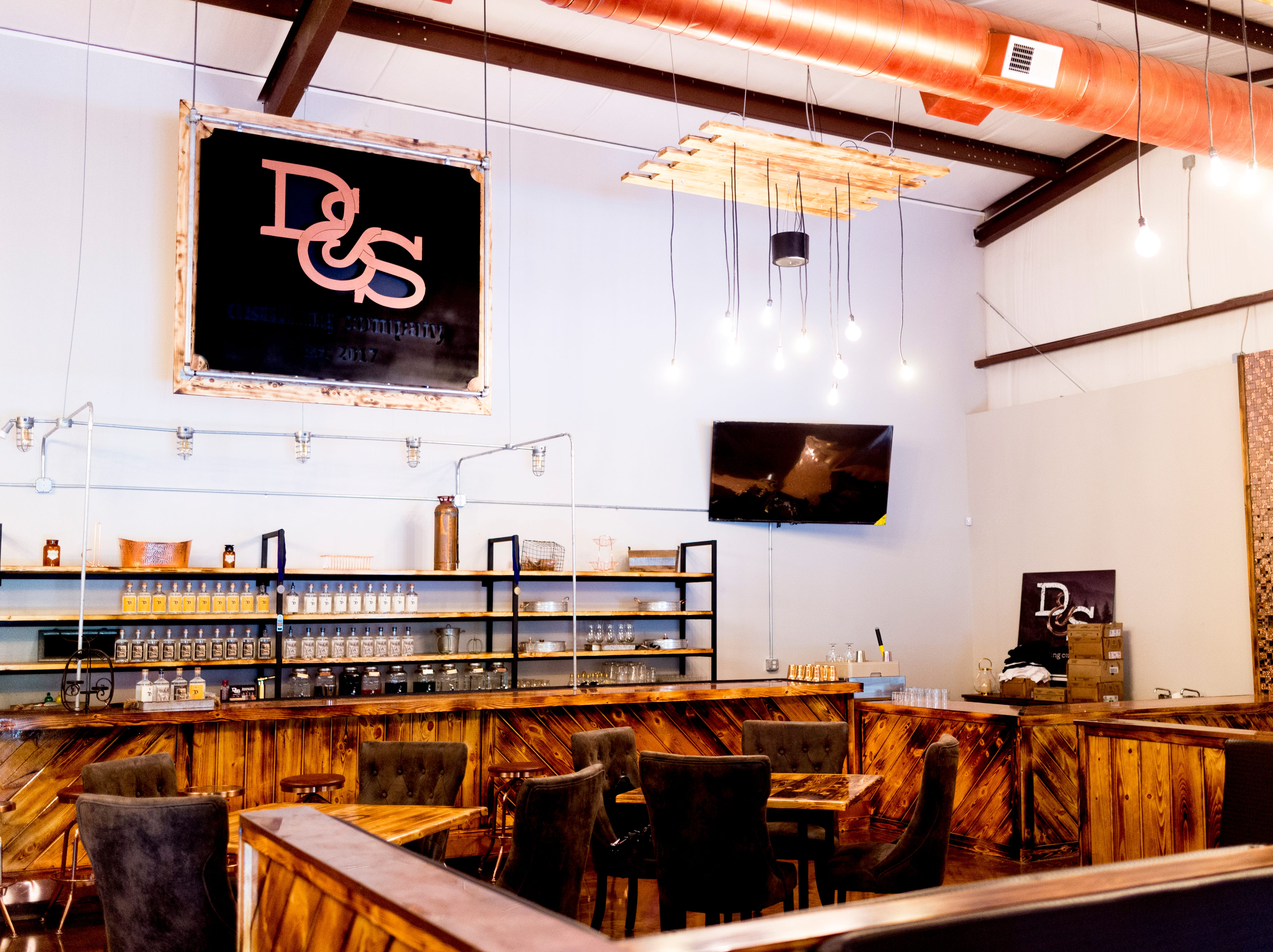 The bar and seating are inside D&S Distilling on 1610 Jenkins Rd. in Sevierville, Tennessee on Tuesday, October 9, 2018. D&S Distilling is TennesseeÕs first completely organic and gluten-free distillery.
