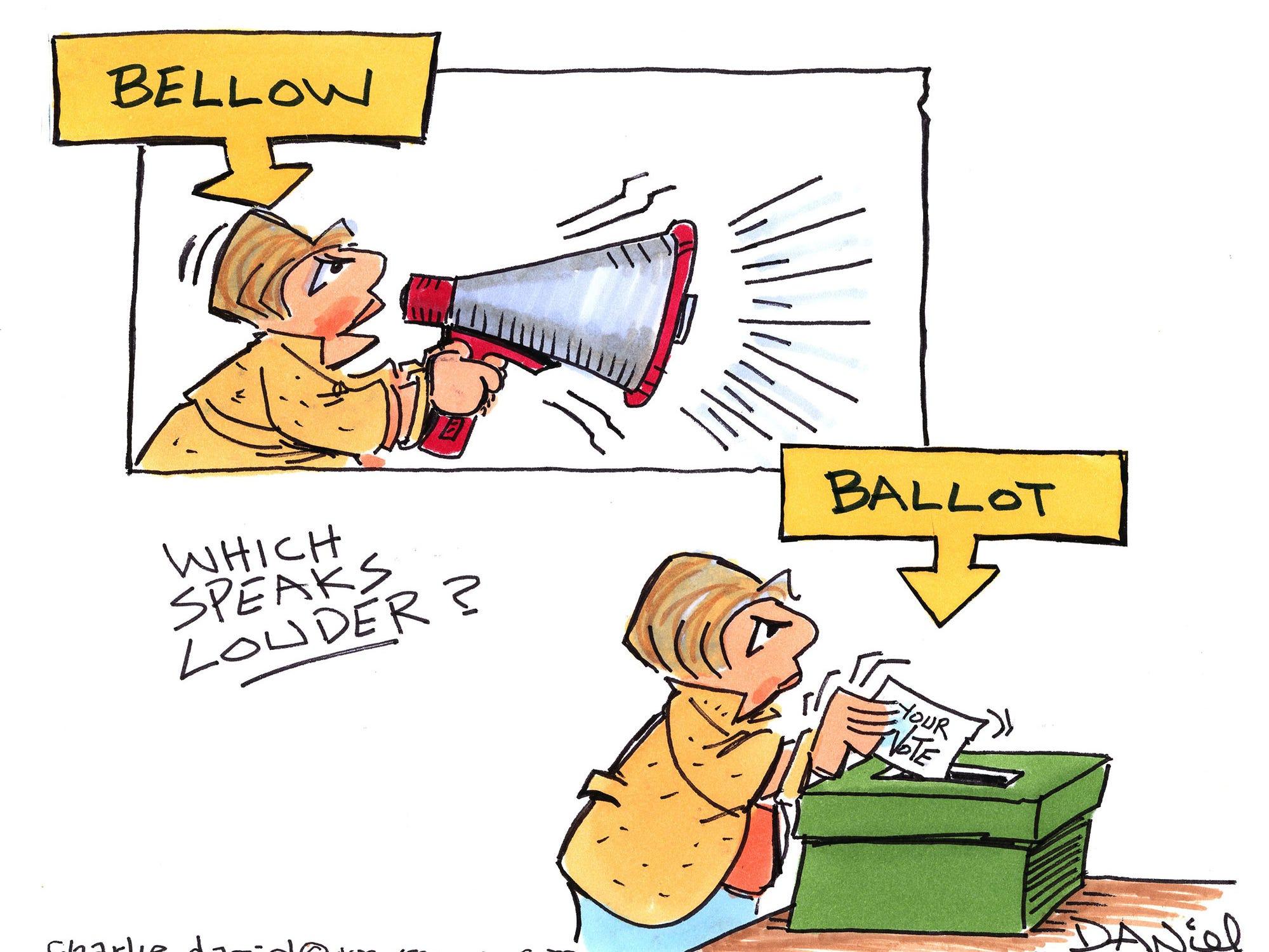 Charlie Daniel editorial cartoon for Thursday, Oct. 11, 2018.