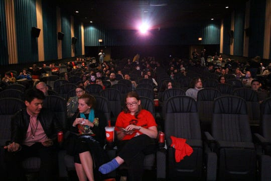Guests await a movie during the 2017 Knoxville Horror Film Fest at Regal Downtown West Cinema.