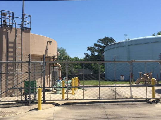 The Lafayette Utilities Authority water plant near downtown is shown in this file photo.